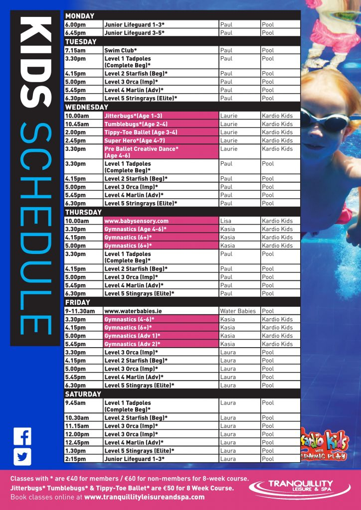 Junior Class Schedule